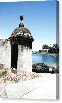 Guard Post Castillo San Felipe Del Morro San Juan Puerto Rico Diffuse Glow Canvas Print by Shawn O'Brien