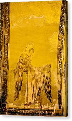 Guardian Angel Byzantine Art Canvas Print by Artur Bogacki