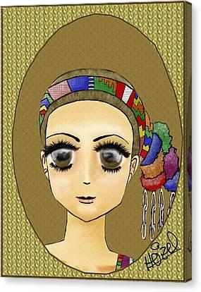 Guatemalan Costume Santo Tomas La Union Canvas Print by Heizel Gonzalez