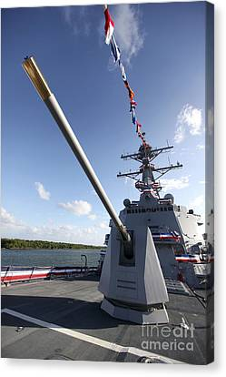 Guided-missile Destroyer Uss Jason Canvas Print by Stocktrek Images