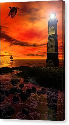 Guiding Light - Lighthouse Art Canvas Print