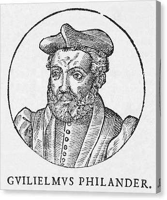 Guillaume Philandrier, French Humanist Canvas Print by Middle Temple Library
