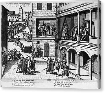 Guise Assassinations, 1588 Canvas Print by Granger