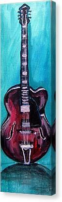 Guitar 2 Canvas Print by Amanda Dinan
