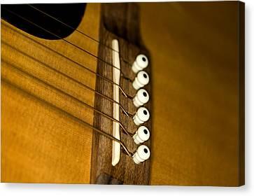 Music Canvas Print - Guitar Bridge by C Ribet