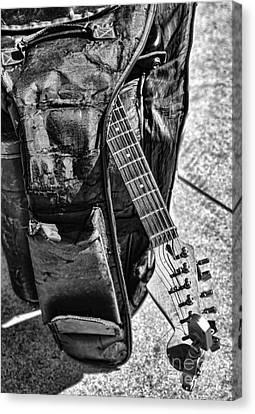 Beach Hop Canvas Print - Guitar IIi by Chuck Kuhn
