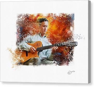 Guitar Jazz Canvas Print