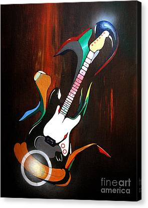 Guitar Melody Canvas Print by Peter Maricq