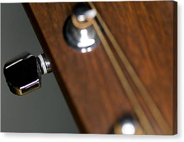 Guitar Tension Canvas Print by C Ribet