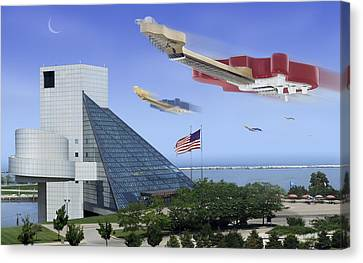 Guitar Wars At The Rock Hall Canvas Print by Mike McGlothlen