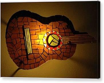 Guitarra Canvas Print by Sonia Ruiz
