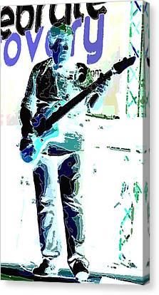 Guitarrist Canvas Print by David Alvarez