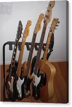 Guitars Canvas Print by Michael Titherington