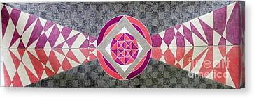 Geometrical Canvas Print - Gulabi Pankh by Sumit Mehndiratta