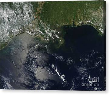 Gulf Oil Spill, April 2010 Canvas Print by Nasa