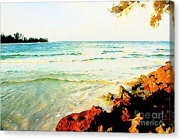 Canvas Print featuring the photograph Gulf Shores by Joan McArthur