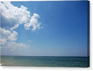Canvas Print featuring the photograph Gulf Sky by Kay Lovingood