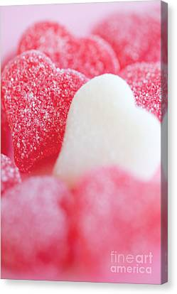 Gummi Heart Canvas Print by Kim Fearheiley