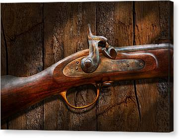 Gun - Musket - London Armory  Canvas Print by Mike Savad