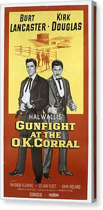 Gunfight At The O.k. Corral, Burt Canvas Print by Everett