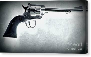 Canvas Print featuring the photograph Guns And Leather 3 by Deniece Platt