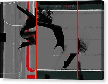 Gymnastics Canvas Print by Naxart Studio