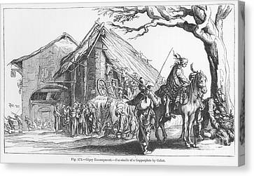 Gypsy Camp, 17th Century Canvas Print by Granger