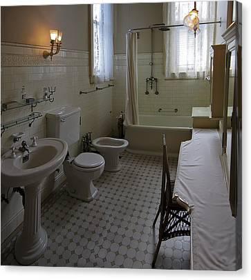 Haas Lilienthal House Victorian Bath - San Francisco Canvas Print by Daniel Hagerman