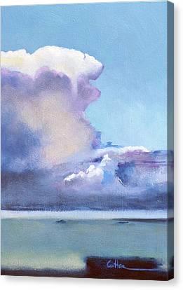Hacia Culebra Canvas Print by Diane Cutter
