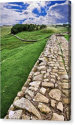 Hadrian's Wall Canvas Print by Wendy White