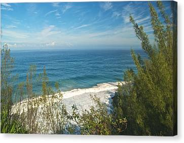 Haena State Park Overview Canvas Print by Michael Peychich