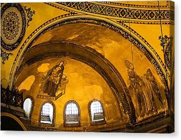 Hagia Sophia Architectural Details Canvas Print by Artur Bogacki