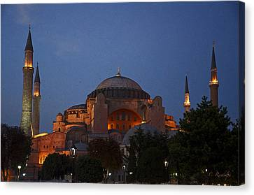 Hagia Sophia Canvas Print by Cheri Randolph