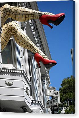 Haight And Ashbury Canvas Print by Beth Saffer