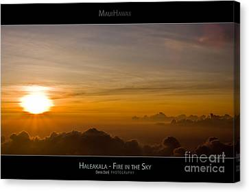 High Park Fire Canvas Print - Haleakala Sunset - Fire In The Sky - Maui Hawaii Posters Series by Denis Dore