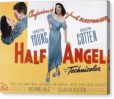 Half Angel, Joseph Cotten, Loretta Canvas Print