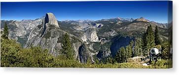Yosemite Canvas Print - Half Dome Nevada Falls Vernal Falls by Henrik Lehnerer