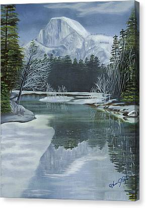 Half Dome Reflections Canvas Print by Lana Tyler