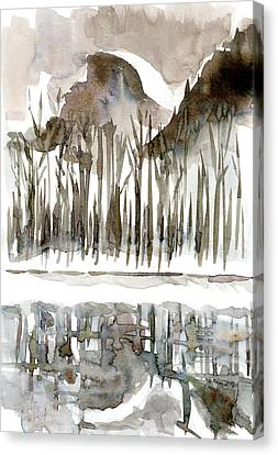 Half Dome Winter Canvas Print by Carol A Marcus