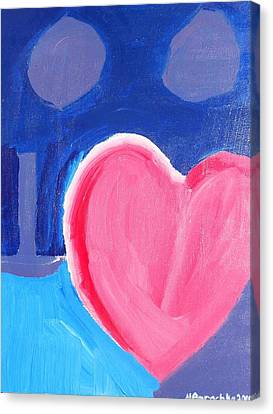 Half Hearted Canvas Print