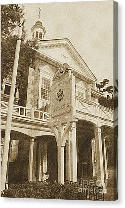 Hall Of Presidents Exterior Walt Disney World Prints Vintage Canvas Print