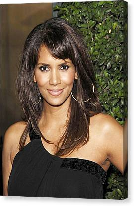 Halle Berry At Arrivals For Things We Canvas Print by Everett