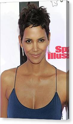Halle Berry In Attendance For Muhammad Canvas Print by Everett