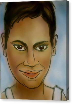 Halle Berry Canvas Print by Pete Maier