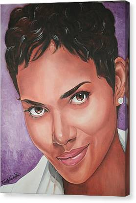 Portraits By Timothe Canvas Print - Halle Berry by Timothe Winstead