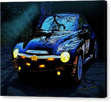 Hallow Weenie Chevy Ssr Canvas Print by Chas Sinklier