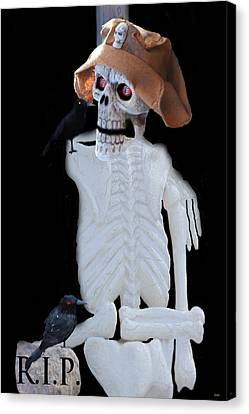 Halloween Card  Canvas Print by Debra     Vatalaro