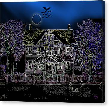 Halloween Haunt Canvas Print by Clara Sue Beym