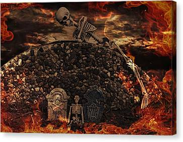 Eerie Canvas Print - Halloween Horror by Maria Dryfhout