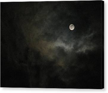 Moon Canvas Print - Halloween Moon by Charles Shedd